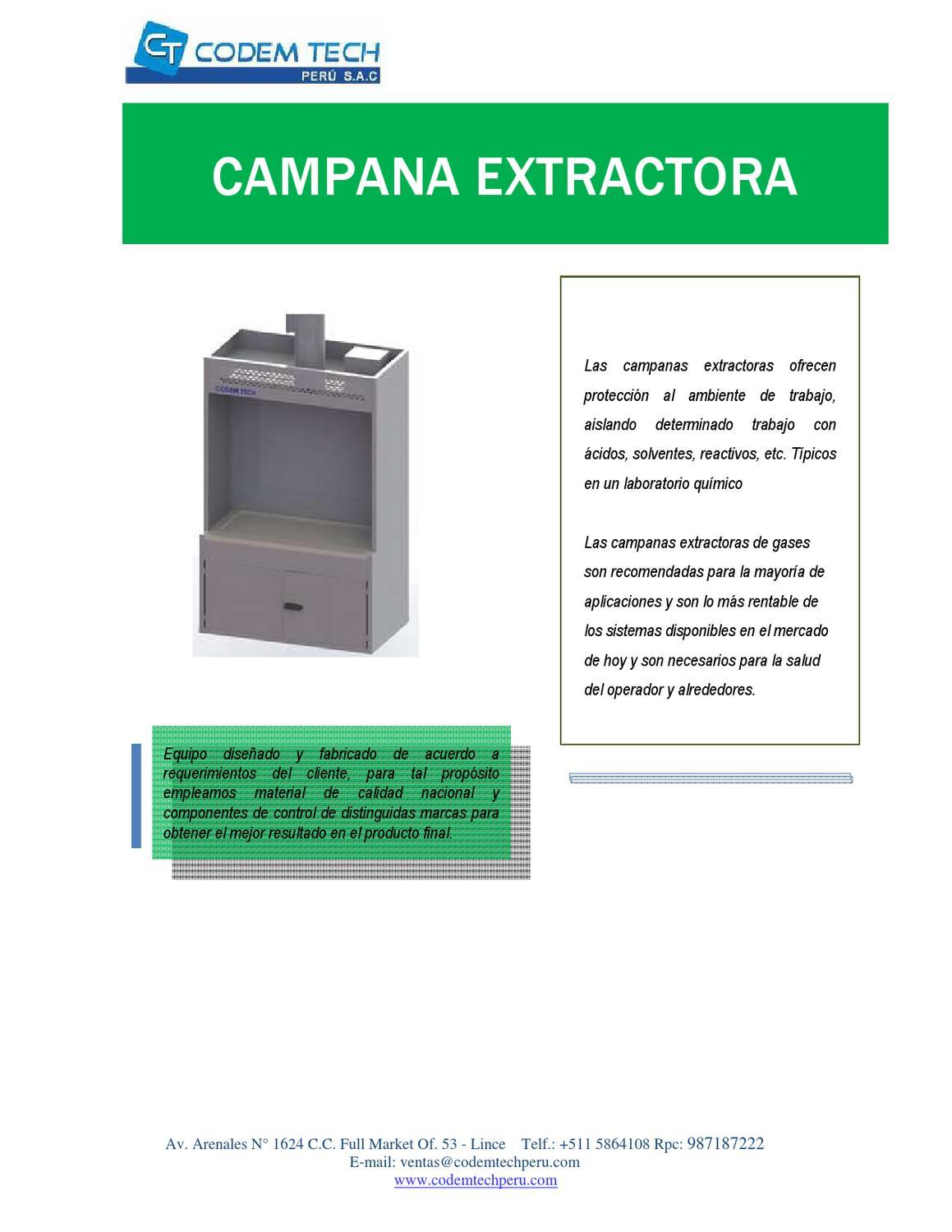 Campana extractora de salud