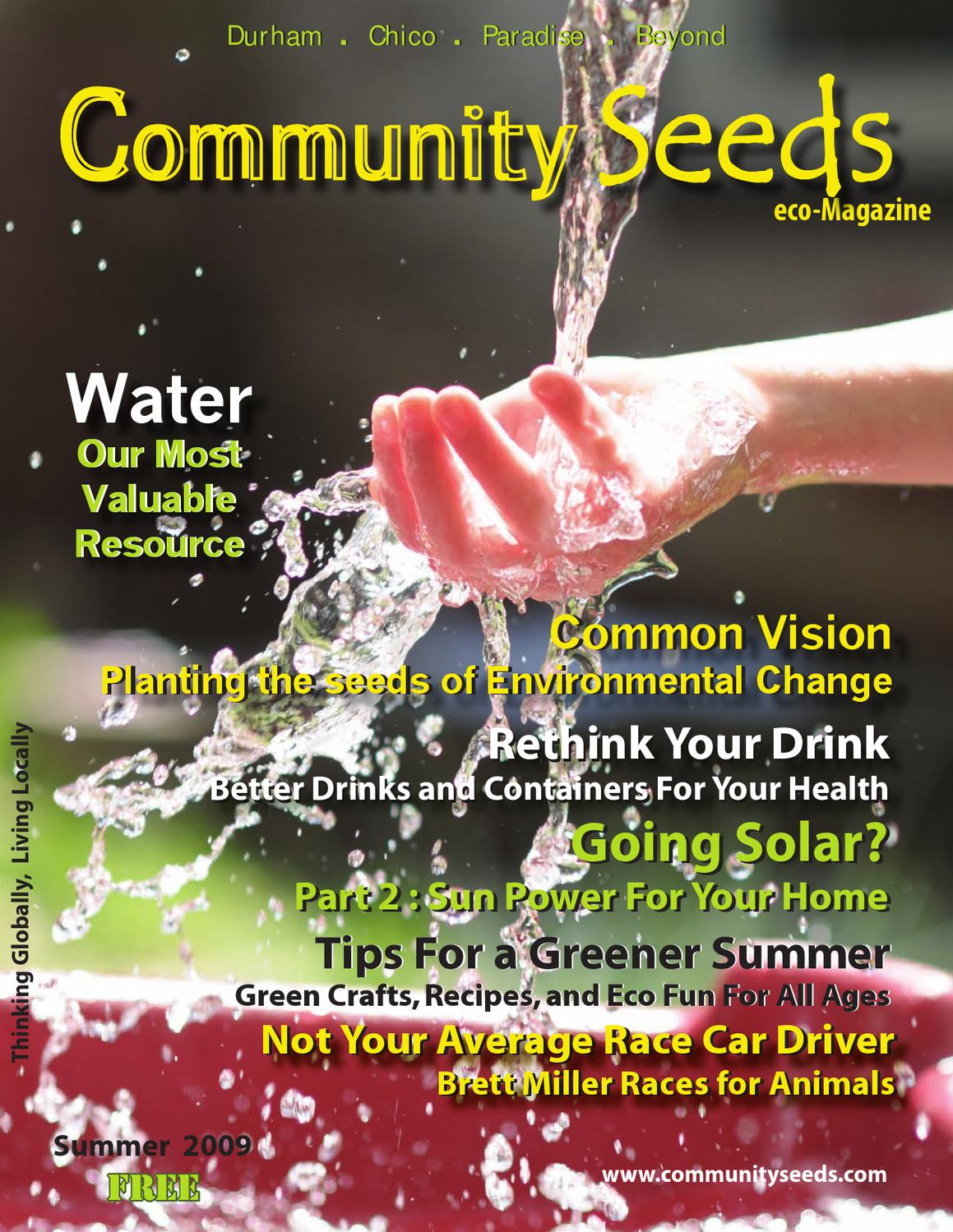 Watergeeks filtered water bottle review the green living guide - Eco Community Seeds Issue Summer 2009 By Eco Community Seeds Magazine Issuu