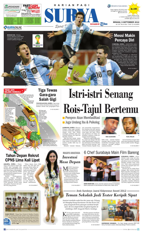 E Paper Surya Edisi 09 September 2012 By Harian Issuu Herbal Khalifah Specialis Lovbird Berlemak Atau Gajeh