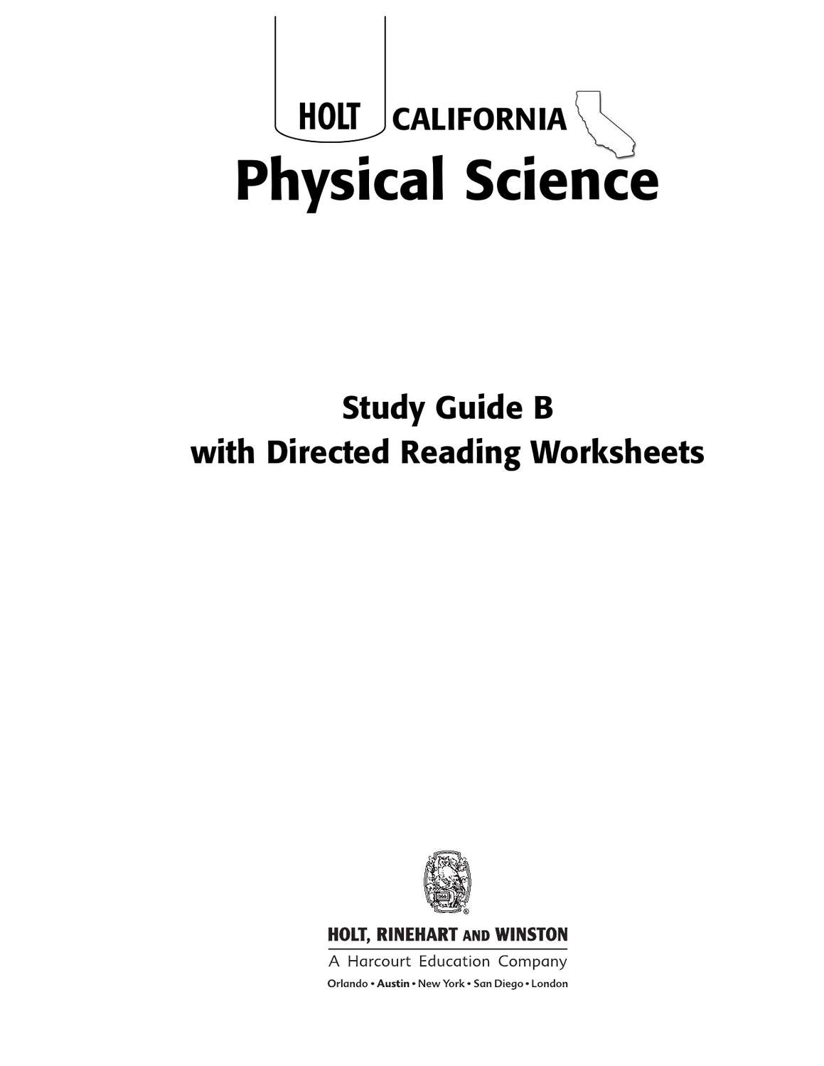 Worksheets Holt Physical Science Worksheets 8th grade science worksheets by lance green issuu
