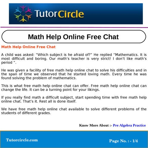 math help for free online chat