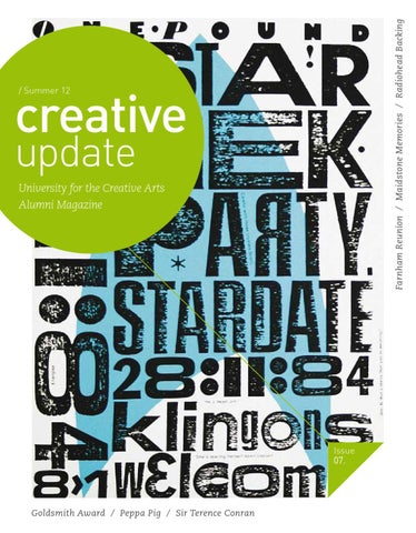 UCA Alumni Magazine: creative update  Summer 12 by