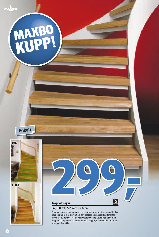 Bygg trapp med trappevanger og terrassebord