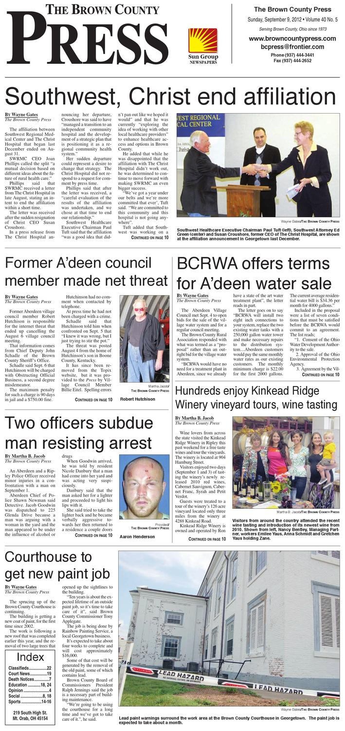 The Brown County Press September 9 2012 By Clermont Sun Publishing Company Issuu
