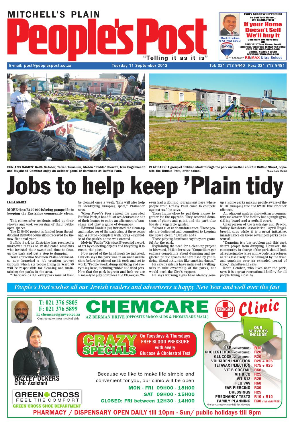 Peoples Post Mitchells Plain 11 Sept 2012 By