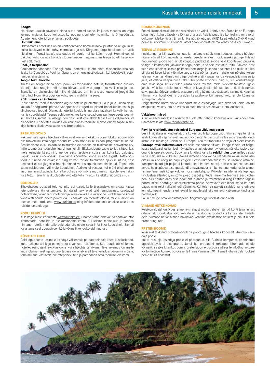 16c7ea38ff9 Aurinko - Reisikataloog talv 2012-2013 by Aurinko Oü - issuu