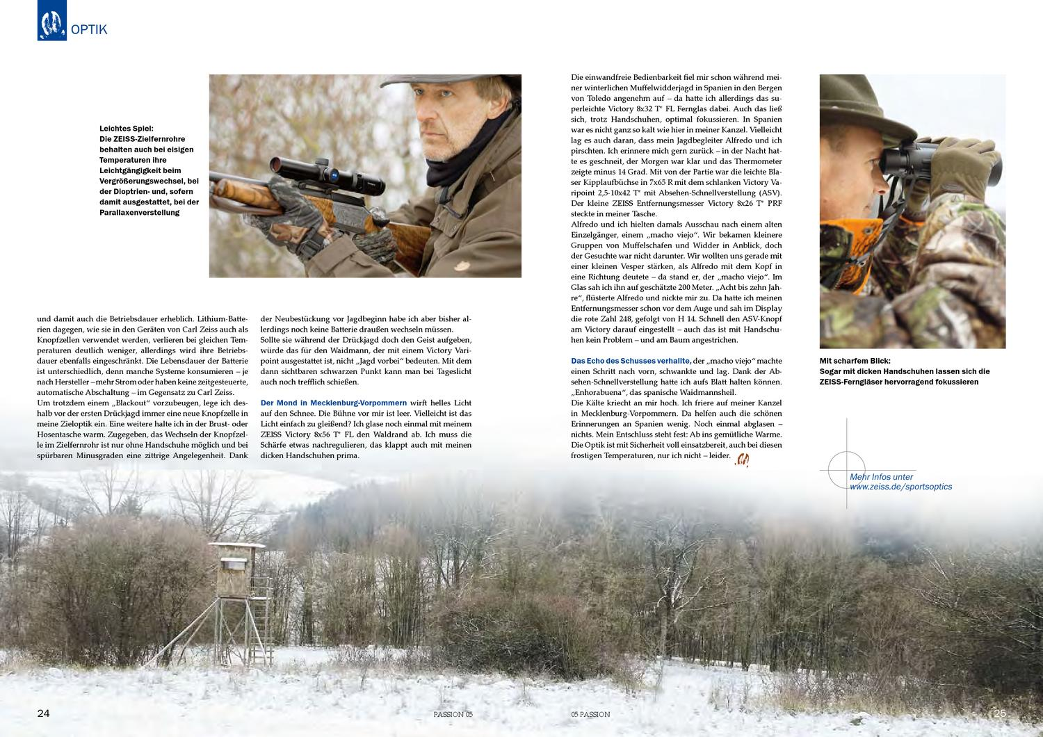 Zeiss Entfernungsmesser Victory 8x26 T Prf : Passion nr by zeiss sports optics issuu