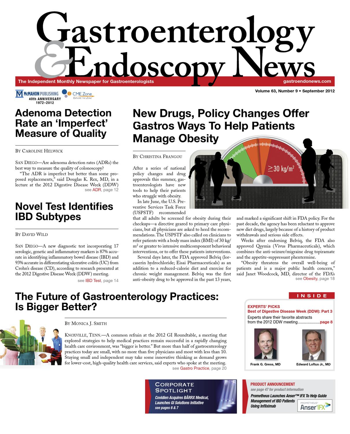 The September 12 Digital Edition Of Gastroenterology And Endoscopy News By Mcmahon Group Issuu