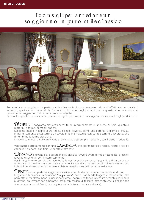 Arredare Un Soggiorno Classico immobili & dintorni magazine settembre 2012 by immobili