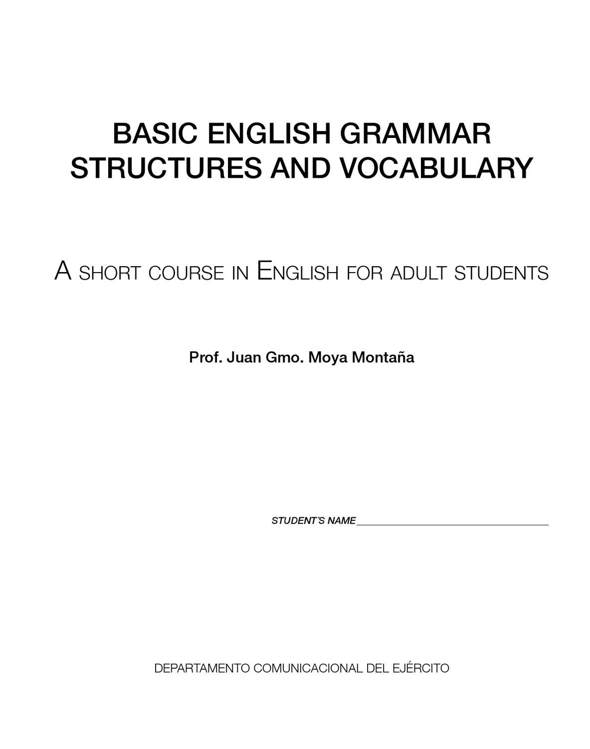 English Grammar By Dennys Tenelanda Issuu