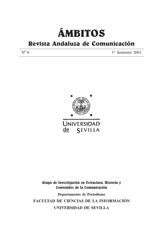 Ámbitos. N-06. Revista Internacional de Comunicación by Ámbitos Revista  Internacional de Comunicación - issuu 08115b4f310d2