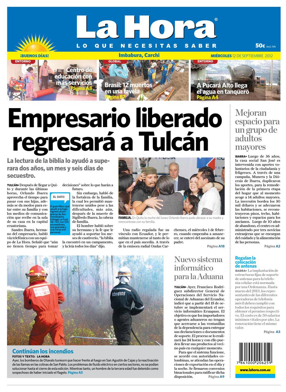 6b3cbda260ed Edición impresa Norte del 12 de septiembre de 2012 by Diario La Hora  Ecuador - issuu