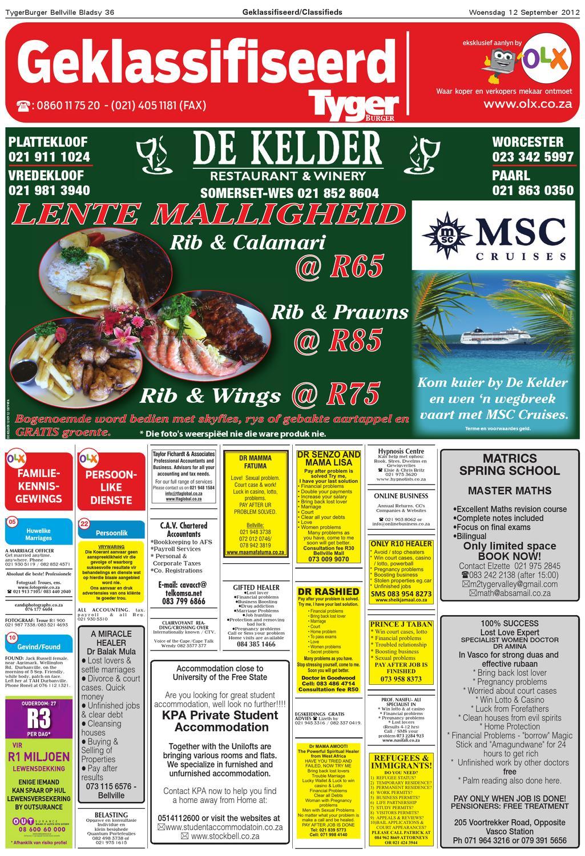 Tygerburger Bellville 12 Sept 2012 by Tygerburger Newspaper