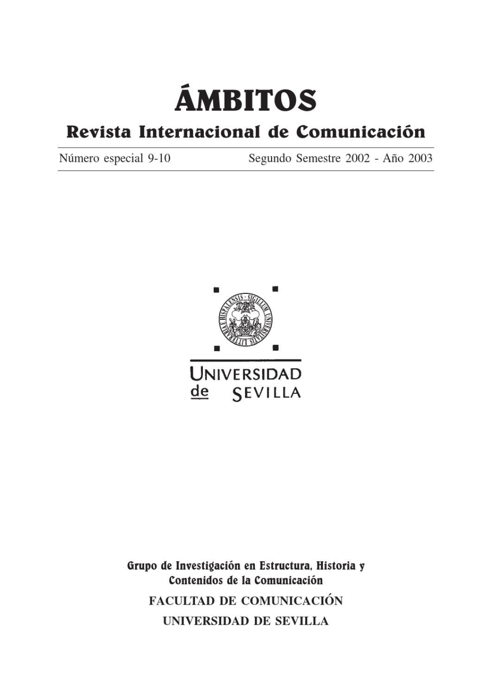 Ámbitos. N-09 N-10 (a). Revista Internacional de Comunicación by ...