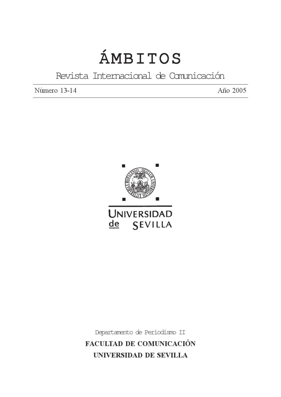 Ámbitos. N-13 N-14. Revista Internacional de Comunicación by Ámbitos ...