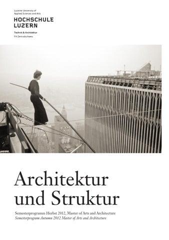 Hslu t a semesterprogramm hs2012 by master architektur issuu for Master in architektur