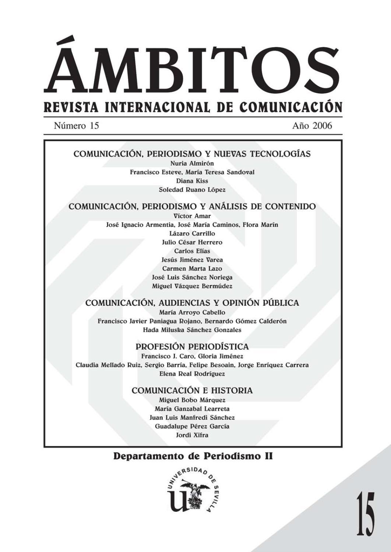 Mbitos N 07 N 08 Revista Internacional De Comunicaci N By  # Muebles Bordas Colombres