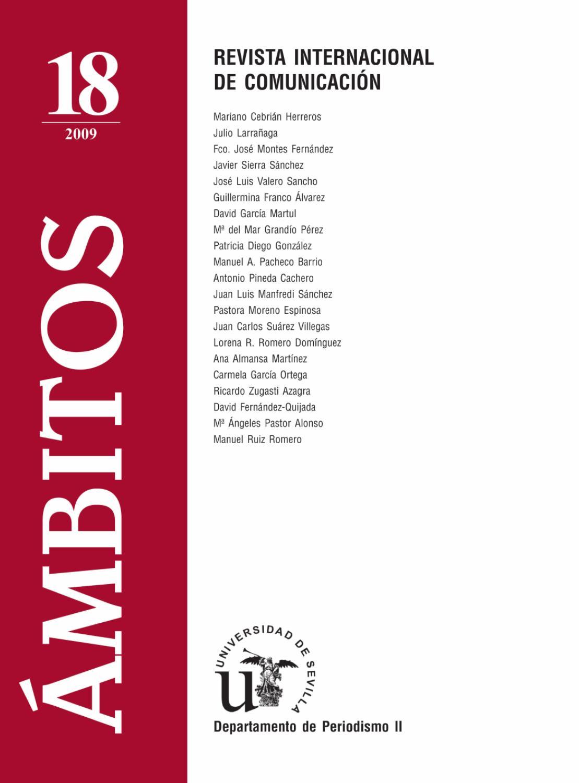Ámbitos. N-18. Revista Internacional de Comunicación by Ámbitos ...
