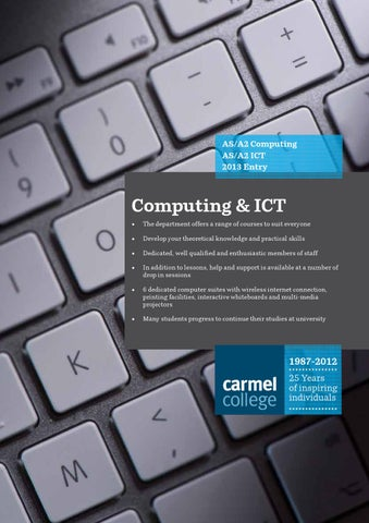 AS A2 Computing ICT 2013 Entry
