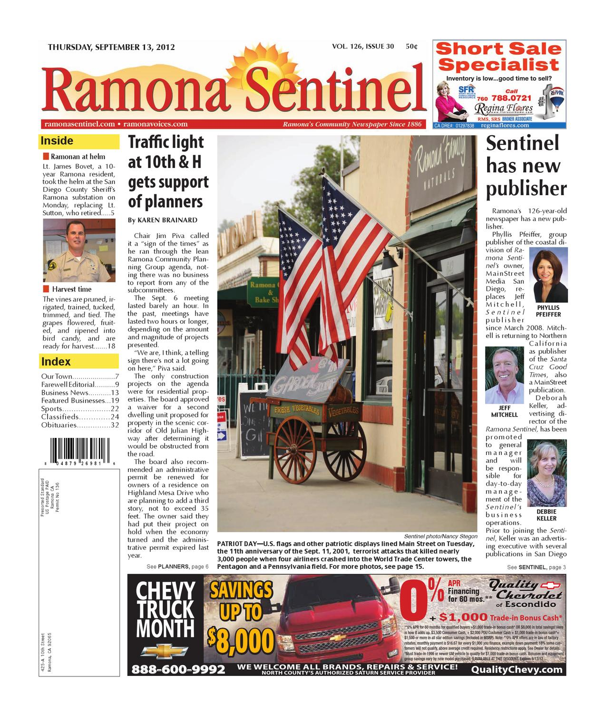 9 13 2012.Ramona Sentinel By MainStreet Media   Issuu