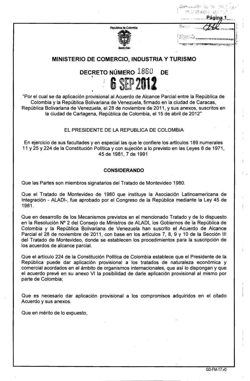 Decreto N° 1860 Gobierno de Colombia by CAVECOL - issuu