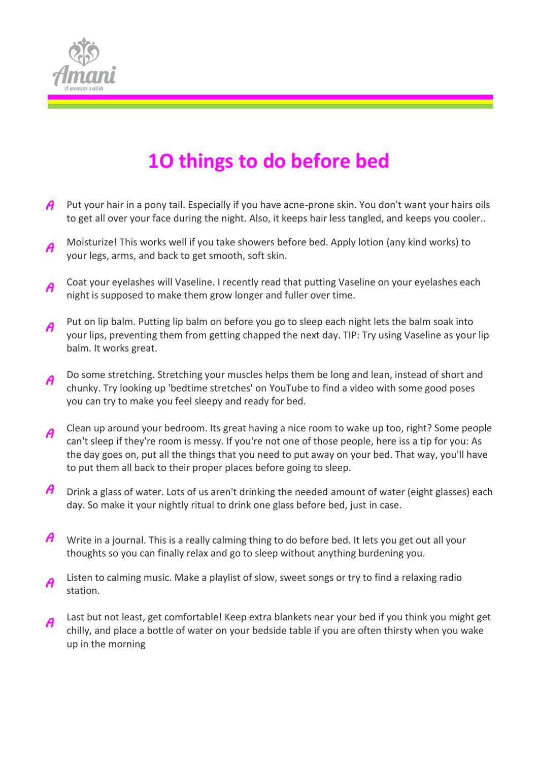 10 before you go to bedamani pads - issuu