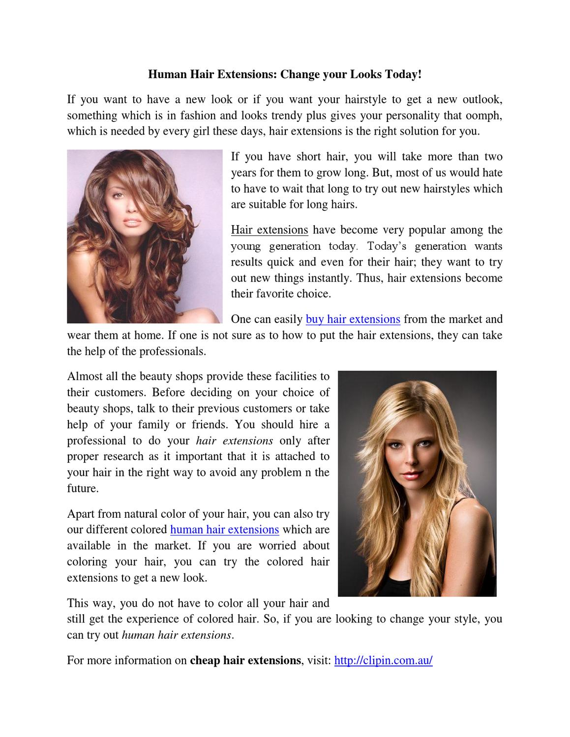 All About Cheap Clip In Hair Extensions By Laura Robinson Issuu