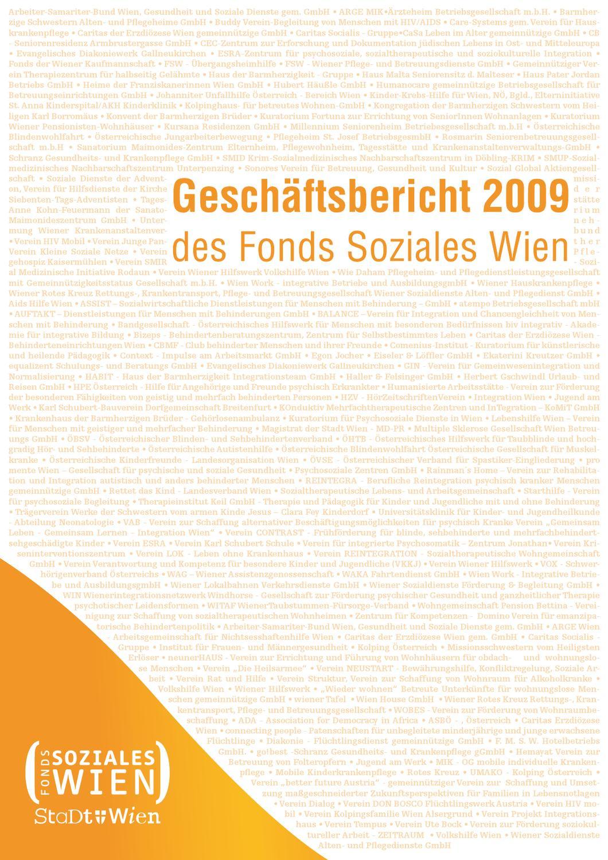 Geschäftsbericht 2009 des Fonds Soziales Wien by Fonds Soziales Wien - issuu
