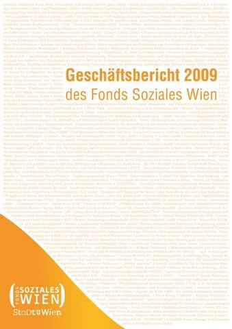 Geschäftsbericht 2009 des Fonds Soziales Wien by Fonds Soziales Wien ...