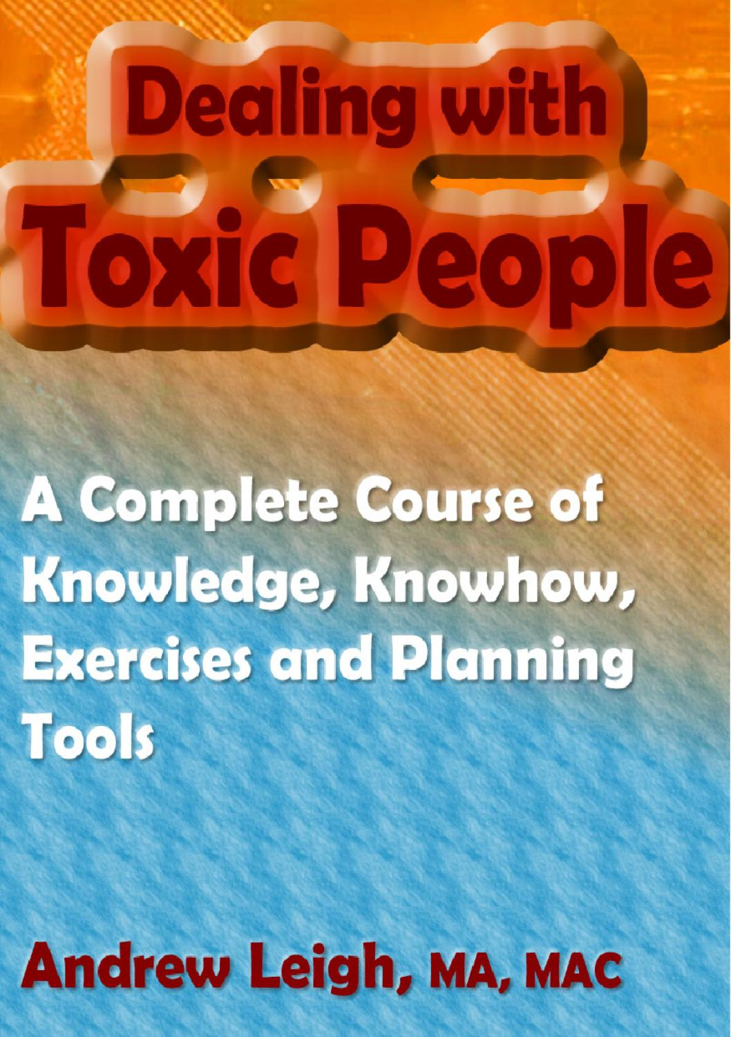 dealing with toxic people