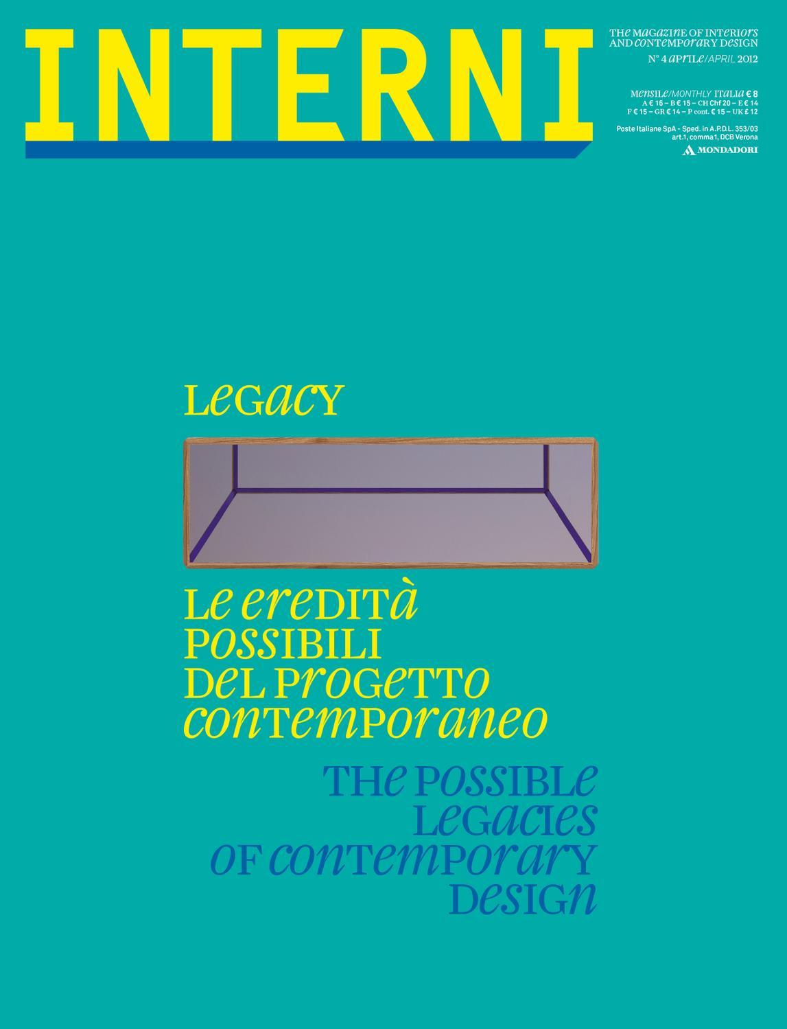 Casa Del Tappezziere Seregno interni magazine 620 - april 2012 by interni magazine - issuu