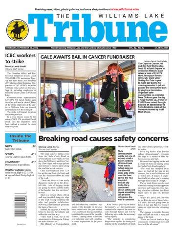 Williams Lake Tribune September 13 2012 By Black Press