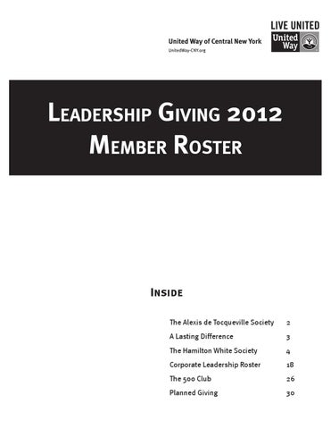 2012 Leadership Roster by Daniel Lovell - issuu