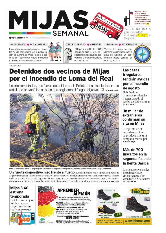 Mijas Semanal nº496 Del 14 al 20 de septiembre de 2012 by Mijas ...