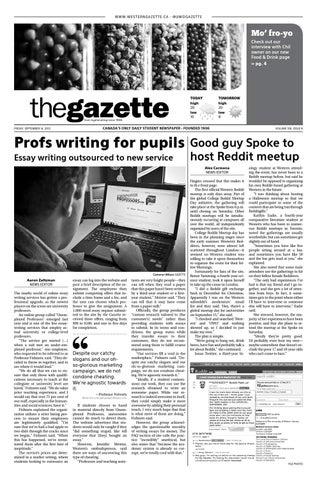 Friday September 14 2012 By Western Gazette