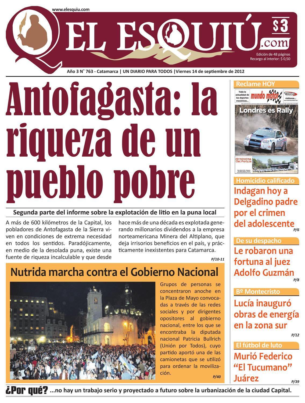 El Esquiu Com Viernes 14 De Septiembre De 2012 By Editorial El  # Muebles Yoma Antofagasta