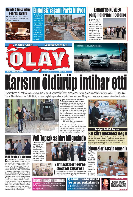 14 09 2012 Gazete Sayfalari By Diyarbakir Olaygazetesi Issuu