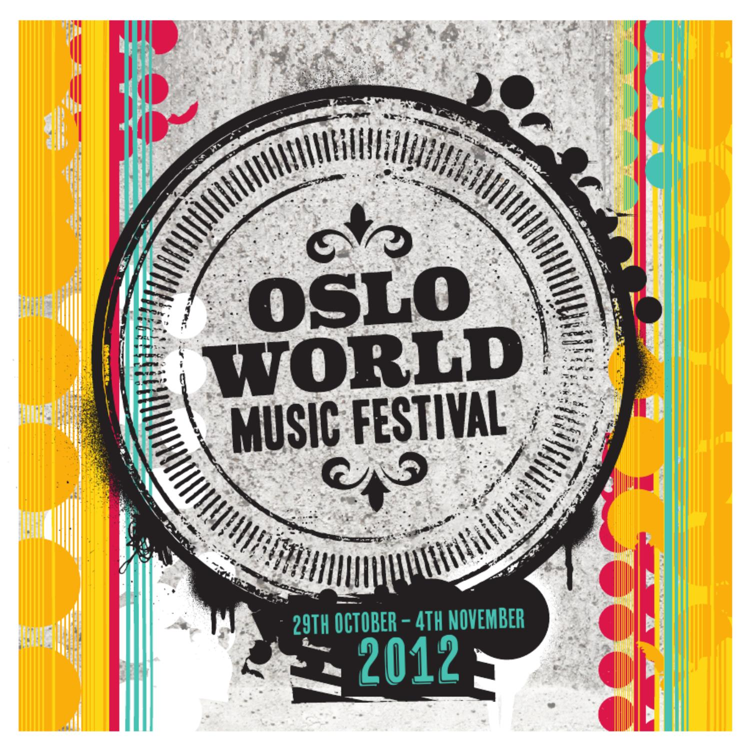 Lucas Moura Wedding: Oslo World Music Festival Program