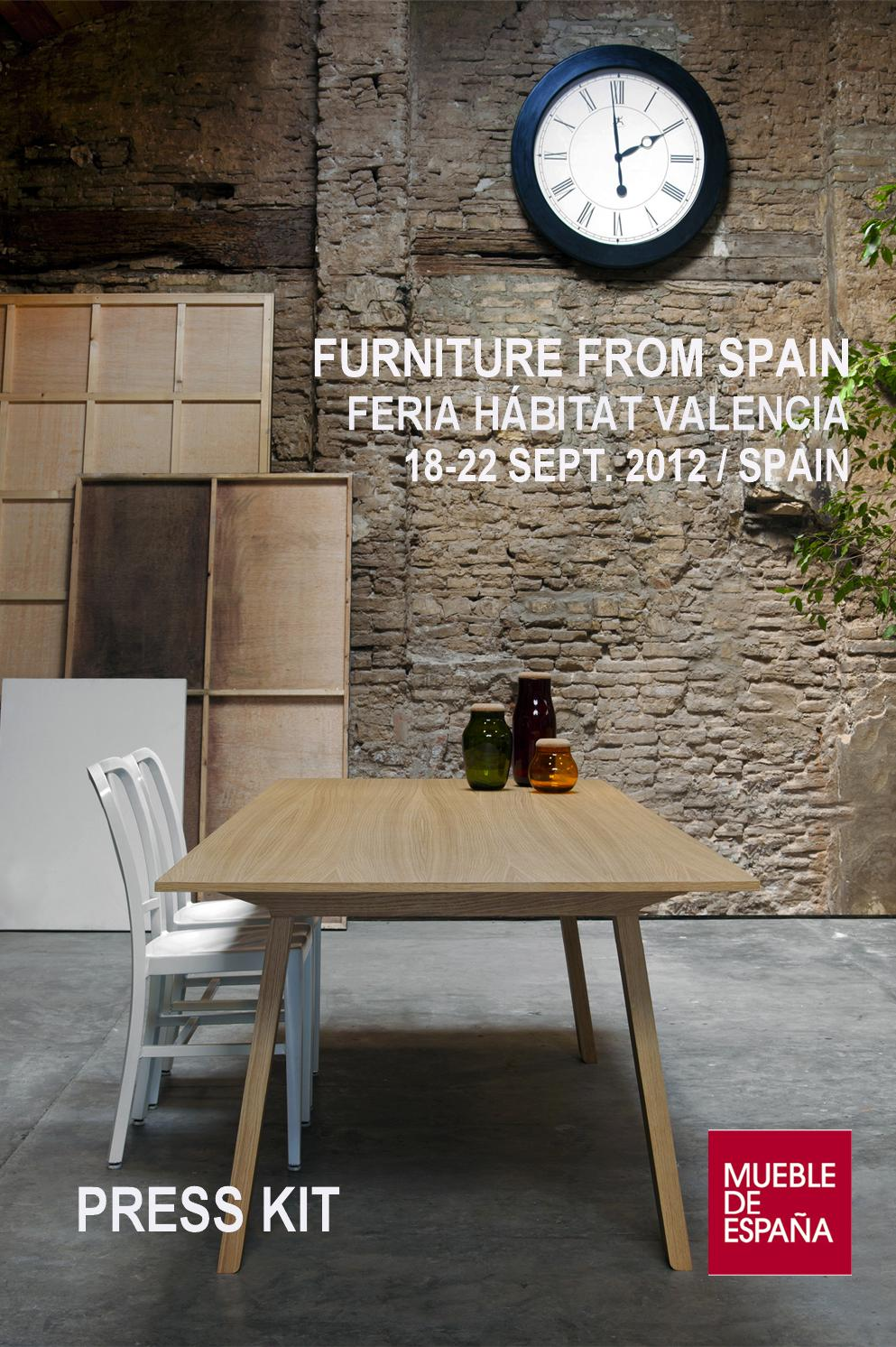 Mueble de espa a at feria h bitat valencia 2012 by furniture from spain issuu - Habitat muebles espana ...