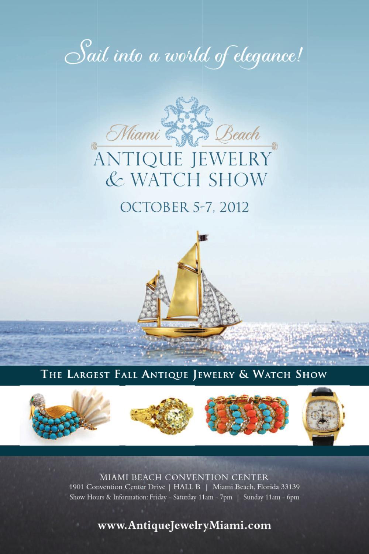 2012 miami beach antique jewelry watch show by u s for Miami beach jewelry watch show