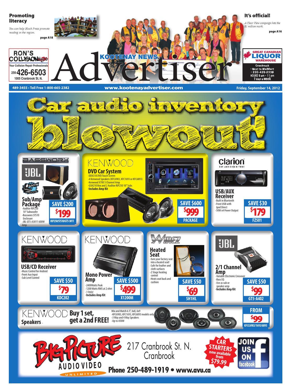Kootenay News Advertiser, September 14, 2012 by Black Press Media