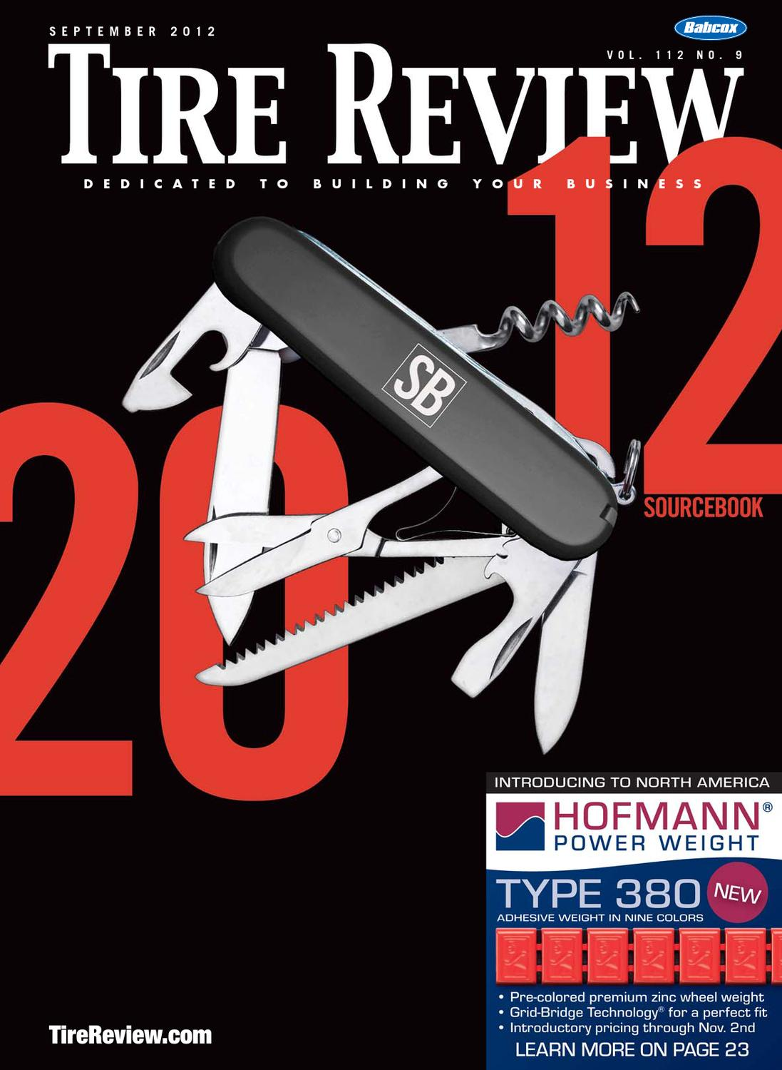 Tire Review September 2012 By Babcox Media Issuu Components Systems Exhaust Gas Recirculation System Autozonecom
