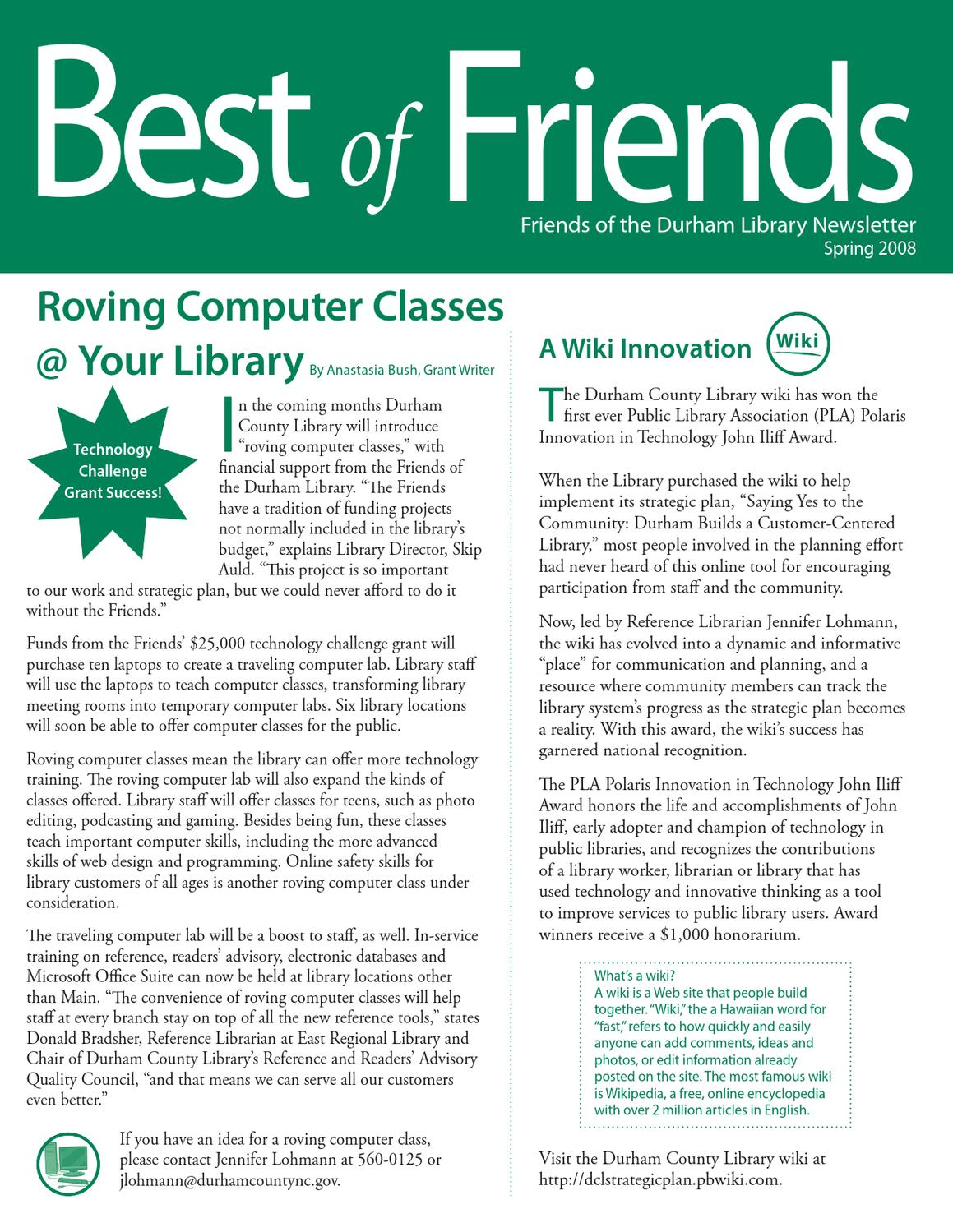 Amber Perkins Wiki best of friends - spring 2008durham county library - issuu
