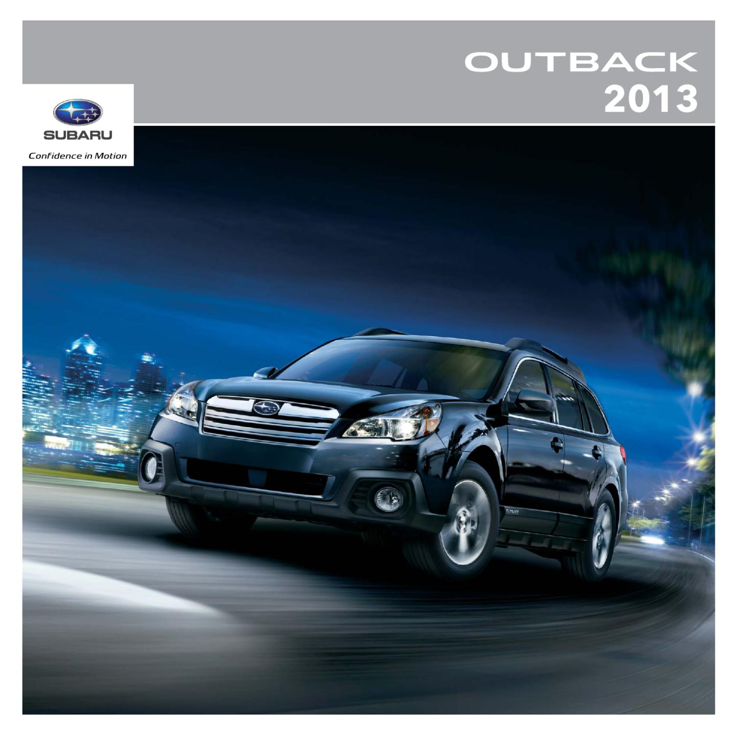 2013 Subaru Outback Brochure by Subaru Canada - issuu