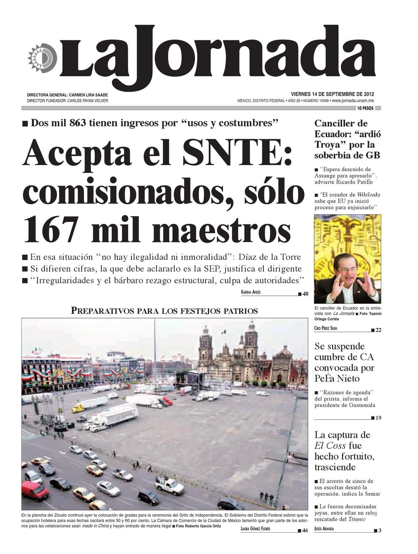 La Jornada, 09/14/2012 by La Jornada: DEMOS Desarrollo de Medios ...