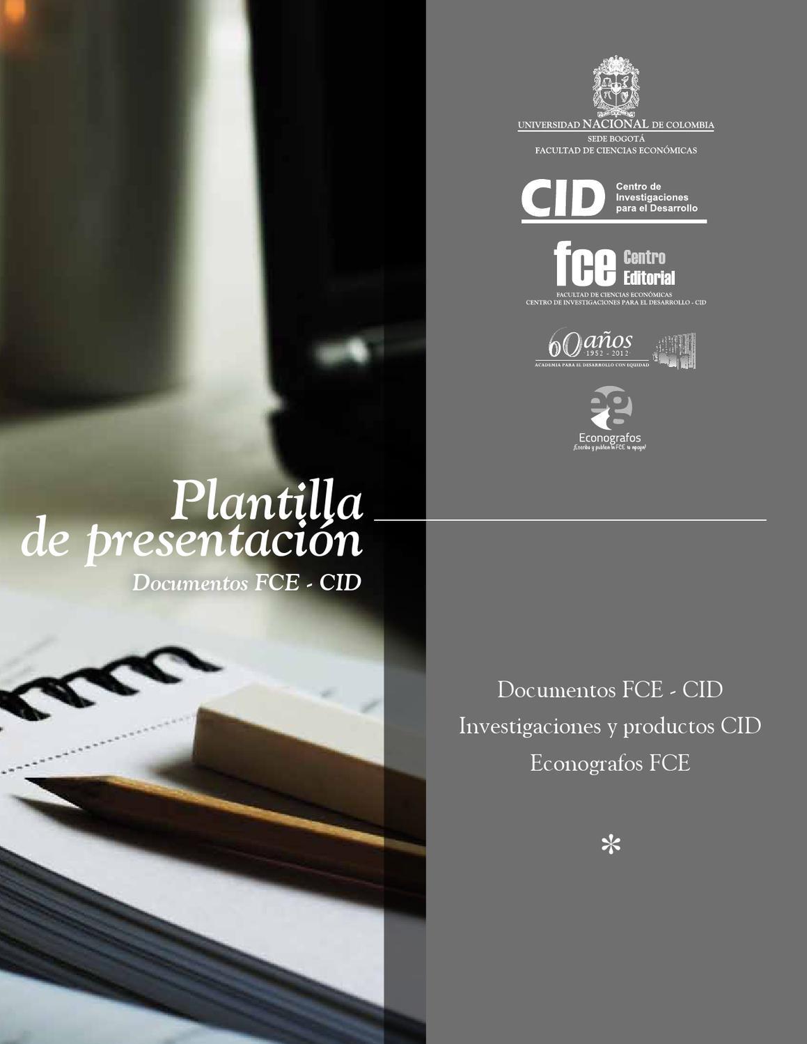Plantilla de presentación Documentos FCE-CID by Econografos Centro ...