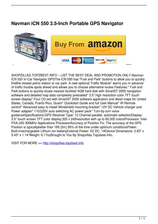 Navman N214 Software user manual