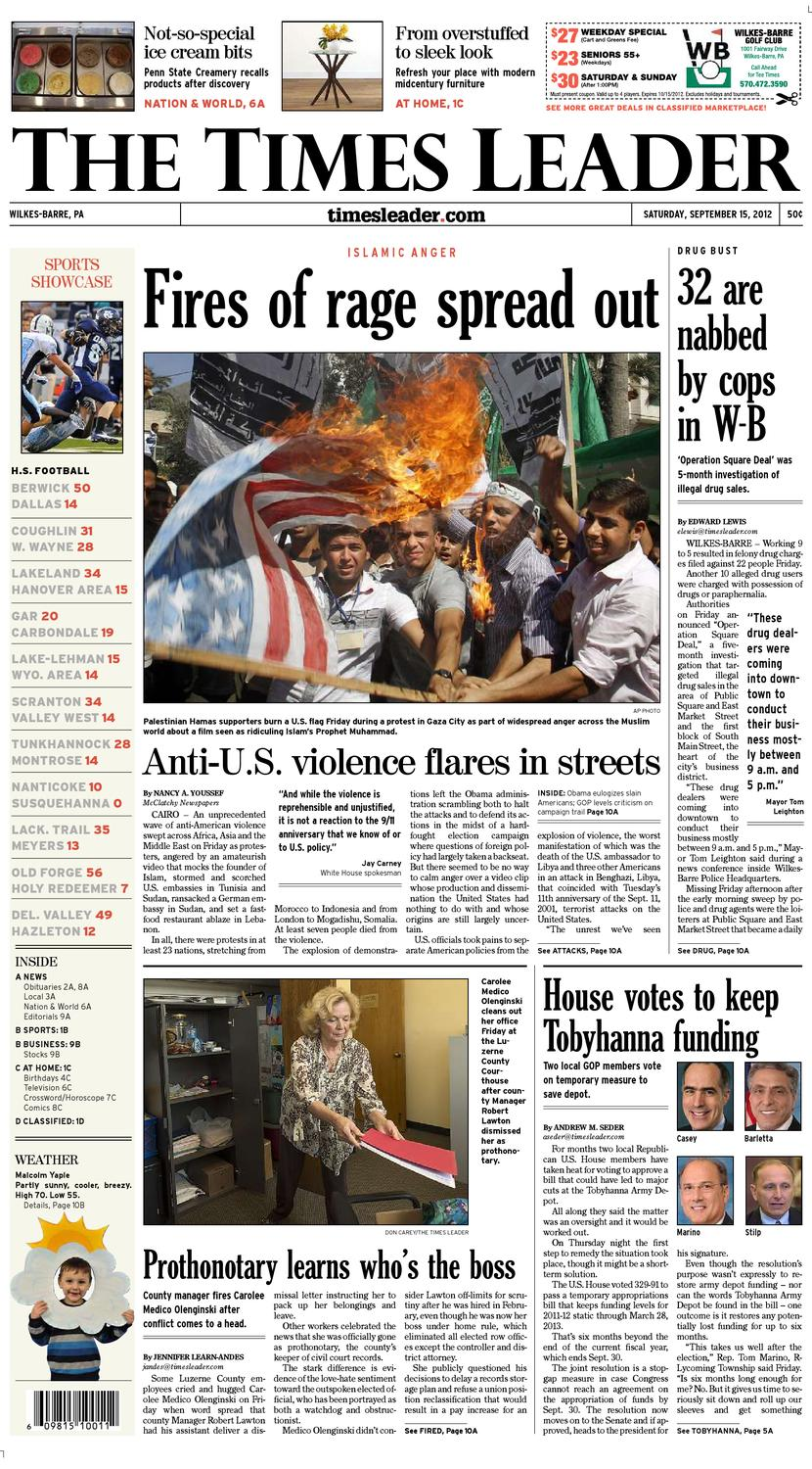 Times Leader 09-15-2012 by The Wilkes-Barre Publishing