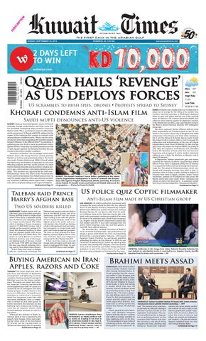 16th Sep By Kuwait Times Issuu