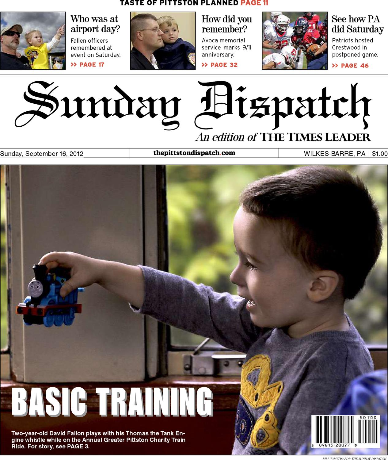 The Pittston Dispatch 09 16 2012 By The Wilkes Barre Publishing